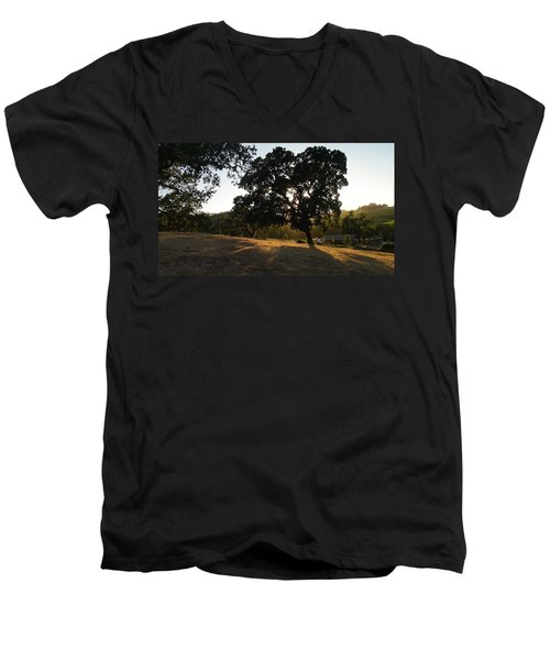 Shade Tree  Men's V-Neck T-Shirt by Shawn Marlow