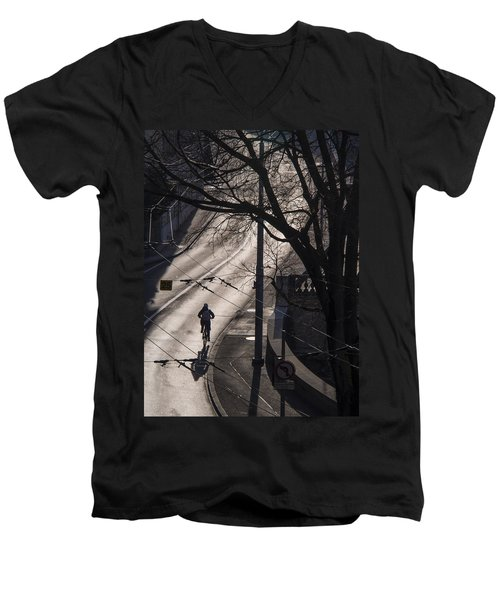 Men's V-Neck T-Shirt featuring the photograph Shadow And Light by Muhie Kanawati