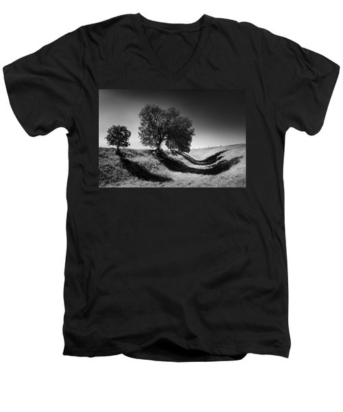 Shadow Time Men's V-Neck T-Shirt