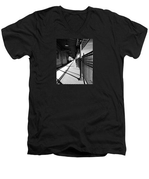 Shadows At The Station Men's V-Neck T-Shirt