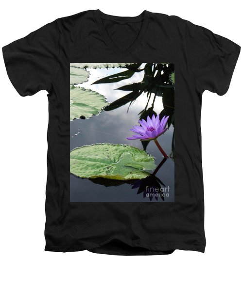 Shadows On A Lily Pond Men's V-Neck T-Shirt