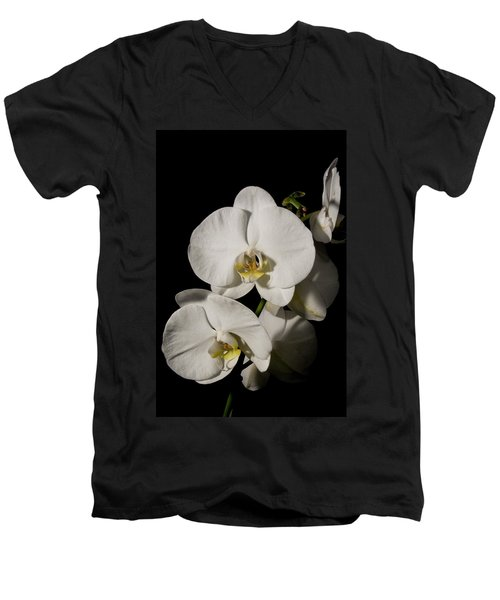 Shadowy Orchids Men's V-Neck T-Shirt