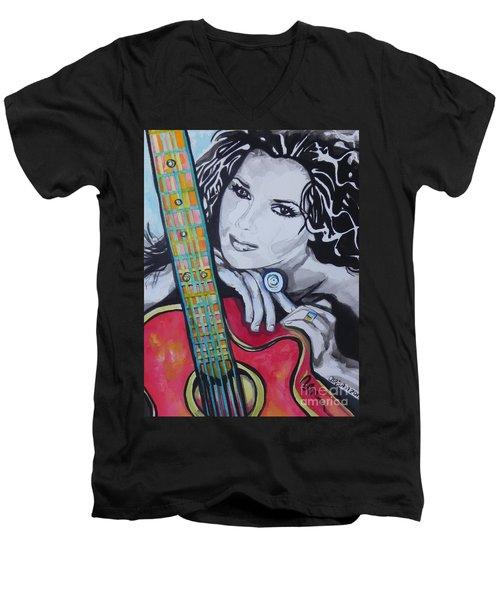 Shania Twain Men's V-Neck T-Shirt