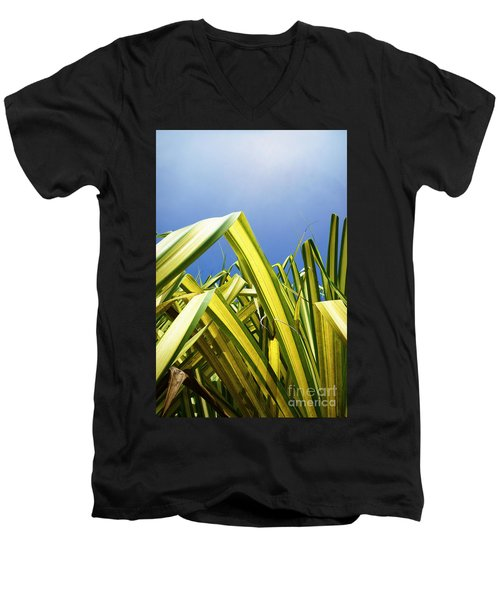 Men's V-Neck T-Shirt featuring the photograph Shape Of Hawaii 9 by Ellen Cotton