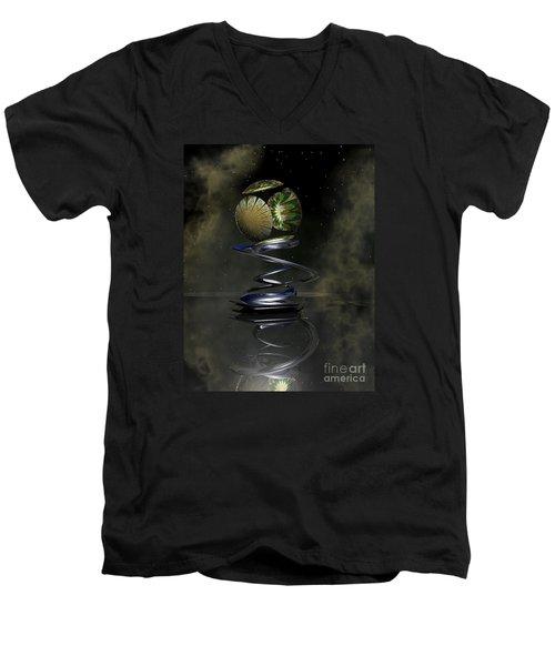 Shapero's Flower Men's V-Neck T-Shirt by Shari Nees