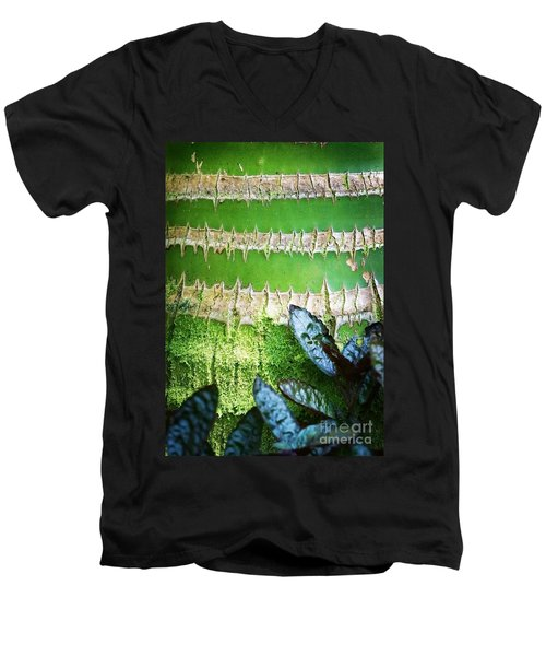 Men's V-Neck T-Shirt featuring the photograph Shapes Of Hawaii 13 by Ellen Cotton