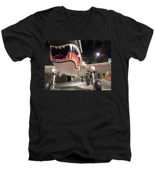 Men's V-Neck T-Shirt featuring the photograph Shark Aircraft by Aaron Martens