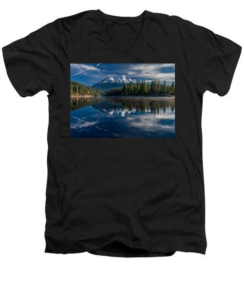 Shasta And Lake Siskiyou Men's V-Neck T-Shirt