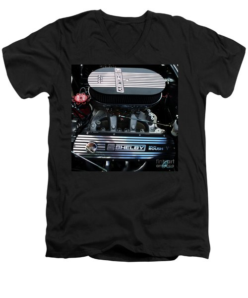 Men's V-Neck T-Shirt featuring the photograph Shelby By Roush by Chris Thomas