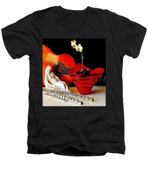Men's V-Neck T-Shirt featuring the photograph Sherrie's Delight by Elf Evans