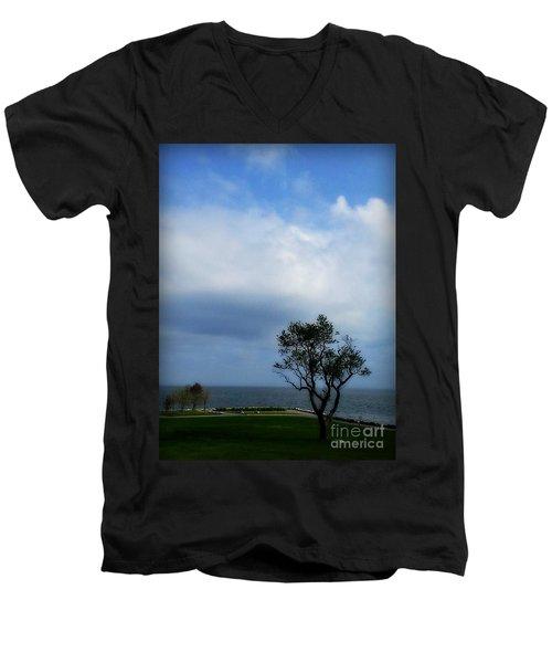 Sherwood Island Men's V-Neck T-Shirt by Kristine Nora