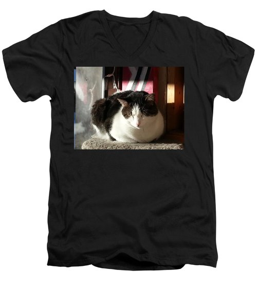 Men's V-Neck T-Shirt featuring the photograph Shhh by Caryl J Bohn
