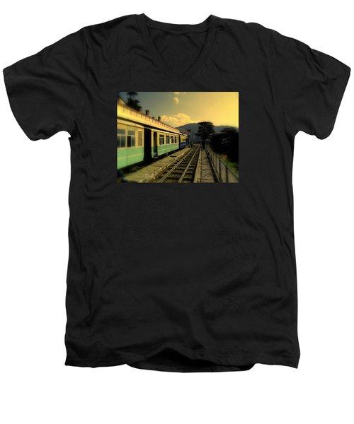 Shimla Railway Station Men's V-Neck T-Shirt