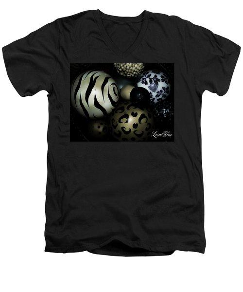 Shimmery Spheres Men's V-Neck T-Shirt
