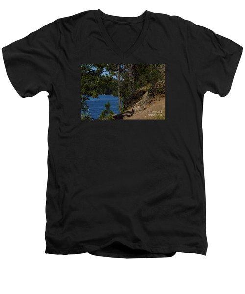 Shine On Men's V-Neck T-Shirt by Greg Patzer