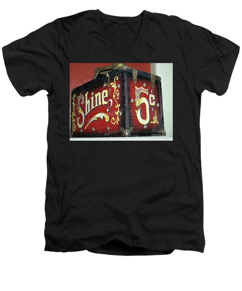 Shoe Shine Kit Men's V-Neck T-Shirt by Pamela Walrath