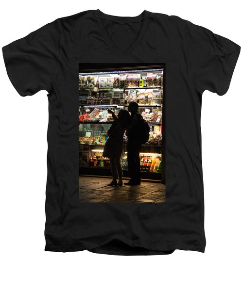 Shop Men's V-Neck T-Shirt by Silvia Bruno