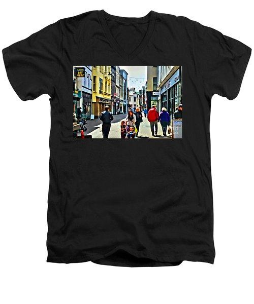 Shopping Men's V-Neck T-Shirt