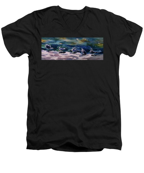 Shoreline Birds Iv Men's V-Neck T-Shirt