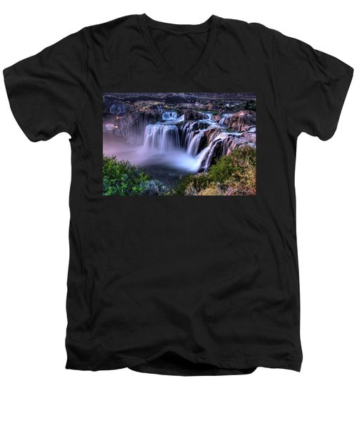 Shoshone Falls Men's V-Neck T-Shirt by David Andersen