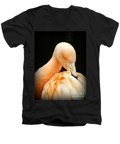 Shy Men's V-Neck T-Shirt by Clare Bevan