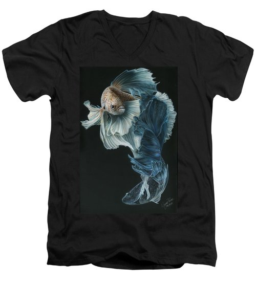 Siamese Fighting Fish Three Men's V-Neck T-Shirt