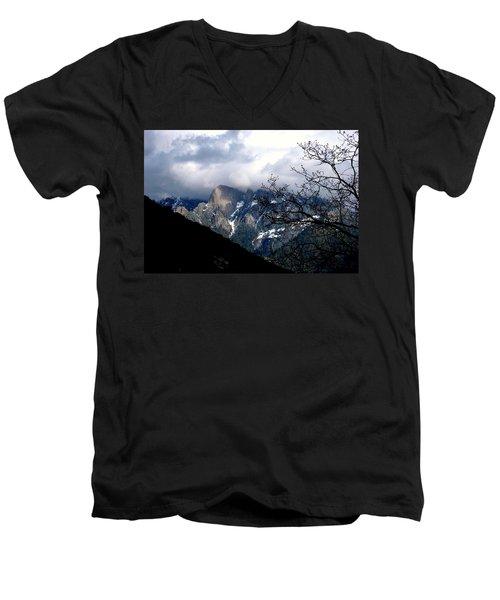 Men's V-Neck T-Shirt featuring the photograph Sierra Nevada Snowy View by Matt Harang