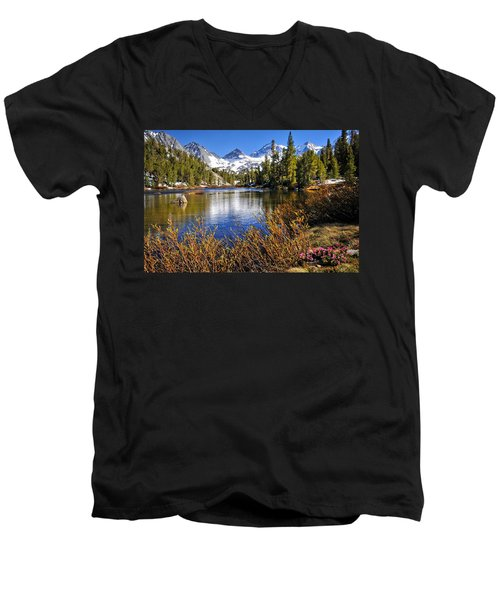 Men's V-Neck T-Shirt featuring the photograph Signs Of Spring by Lynn Bauer