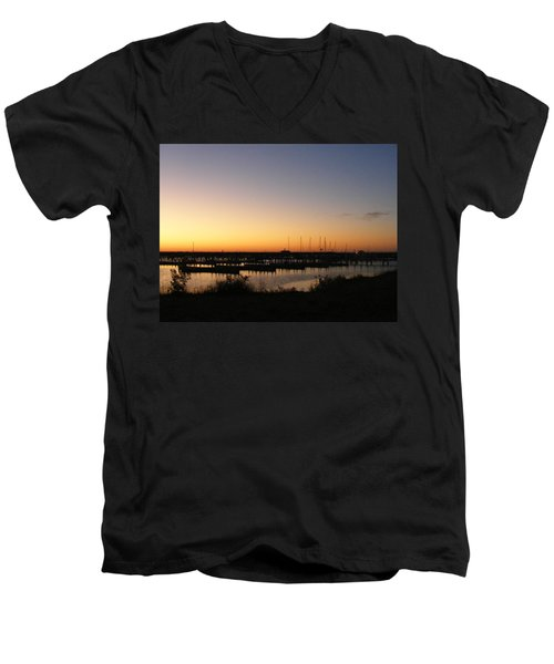 Silent Harbor Men's V-Neck T-Shirt