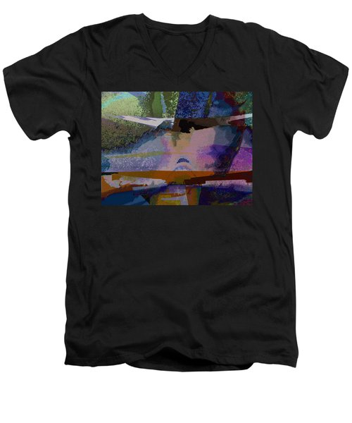 Men's V-Neck T-Shirt featuring the photograph Silhouette And Shadows by David Pantuso
