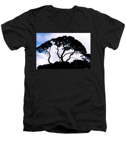Men's V-Neck T-Shirt featuring the photograph Silhouette by Jim Thompson