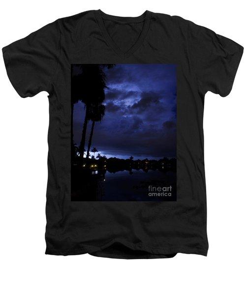 Silhouetting Palms Men's V-Neck T-Shirt