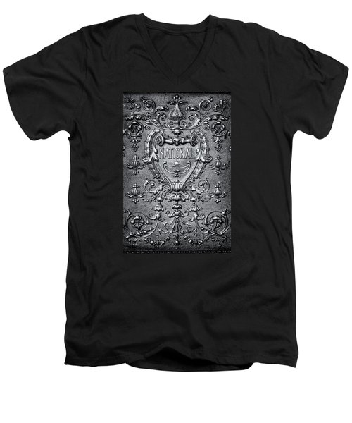 Men's V-Neck T-Shirt featuring the photograph Silver Flourish by Caitlyn  Grasso