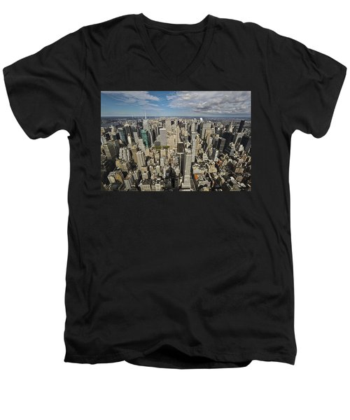 Men's V-Neck T-Shirt featuring the photograph Sim City by Mihai Andritoiu