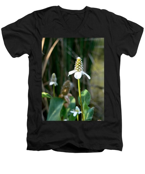 Men's V-Neck T-Shirt featuring the photograph Simple Flower by Laurel Powell