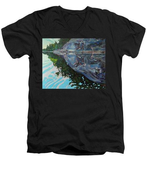Singleton Marble Men's V-Neck T-Shirt