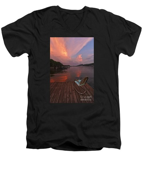 Sittin' On The Dock 2 Men's V-Neck T-Shirt