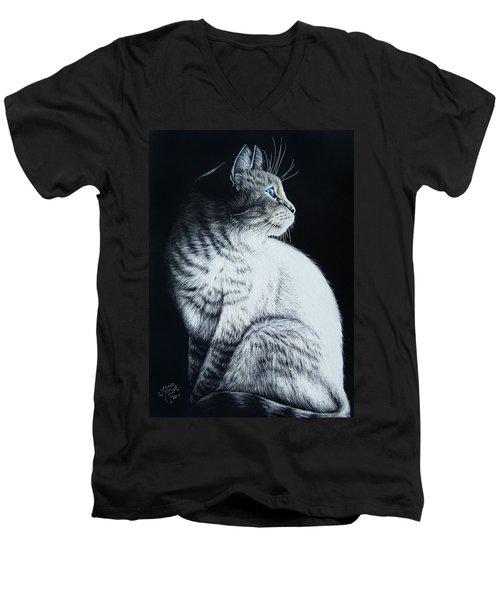 Sitting Cat Men's V-Neck T-Shirt