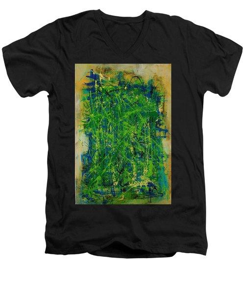Six Degrees Men's V-Neck T-Shirt by Jean Cormier