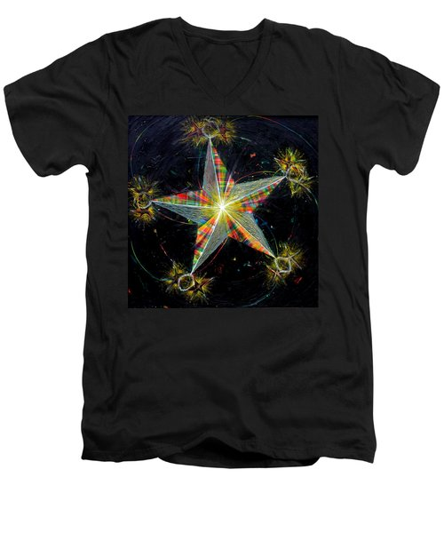 Sixth Day Of Creation Men's V-Neck T-Shirt