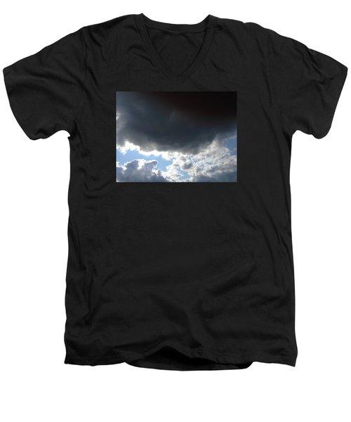 Skeleton Key Men's V-Neck T-Shirt by Jeff Iverson
