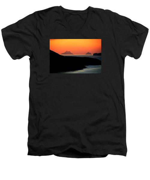 Skellig Islands  Men's V-Neck T-Shirt