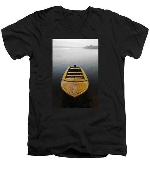 Skc 0042 Calmness Anchored Men's V-Neck T-Shirt