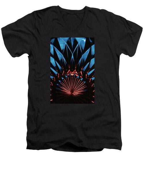 Skc 0269 Cut Glass Men's V-Neck T-Shirt by Sunil Kapadia
