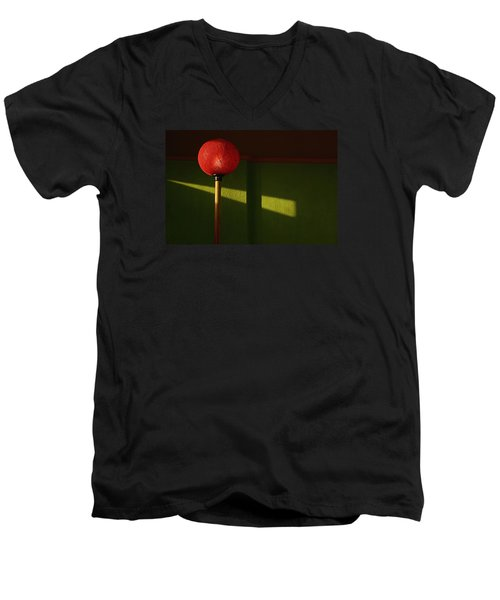 Skc 0469 Glow Of Light Men's V-Neck T-Shirt by Sunil Kapadia