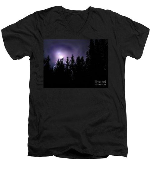 Sky Bolt Men's V-Neck T-Shirt