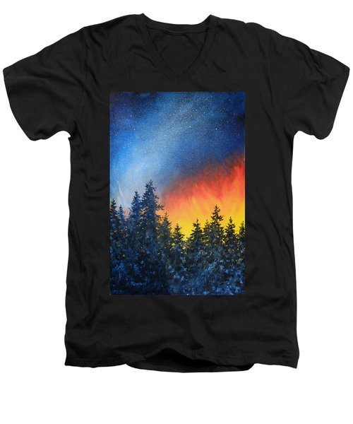 Sky Fire Men's V-Neck T-Shirt