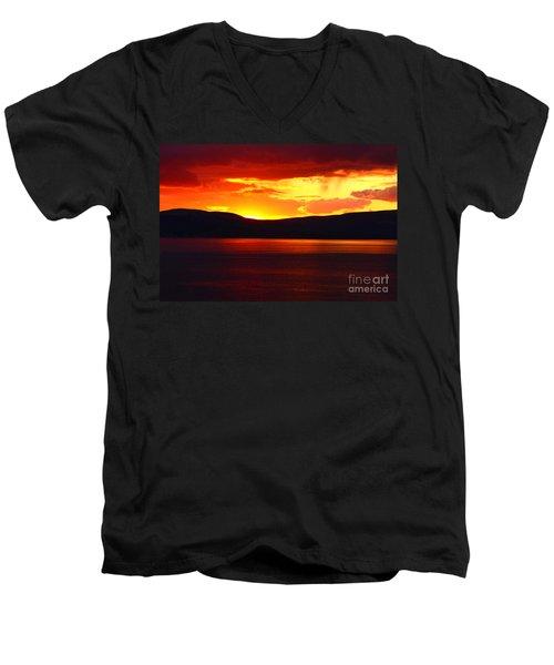 Sky Of Fire Men's V-Neck T-Shirt