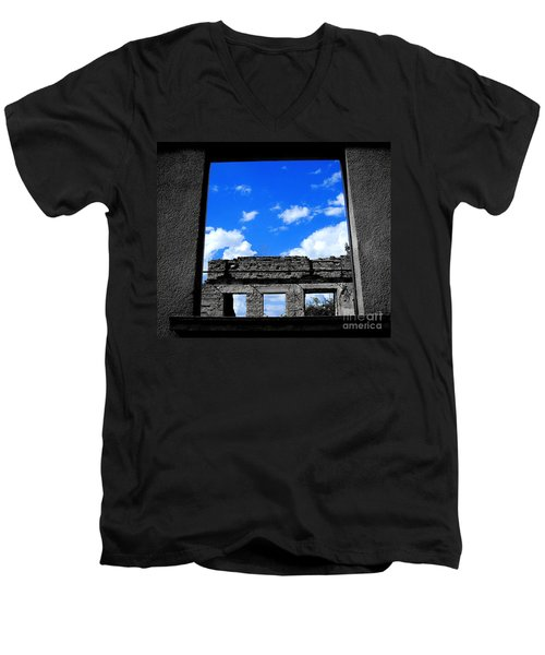 Men's V-Neck T-Shirt featuring the photograph Sky Windows by Nina Ficur Feenan