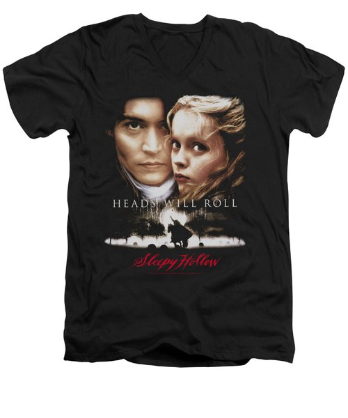Sleepy Hollow - Heads Will Roll Men's V-Neck T-Shirt